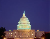 Capitol Building. At night in Washington D.C Stock Photo