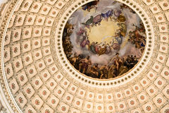 Capitol Building. The inside of the Dome in the Capitol building in Washington Stock Image