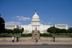 Capitol building. The United States Capitol in Washington, DC. View is from across the street Stock Photos