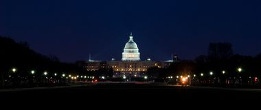 Capitol Building. The United States Capitol Building in Washington DC at night Stock Photos