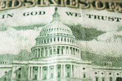The Capitol Building as depicted on the US 50 Dollar Bill. Close up royalty free stock images