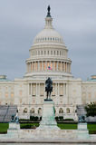 Capitol building in a cloudy morning , Washington Stock Photo