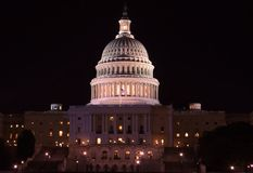Capitol Building - congress at night, Washington Stock Images