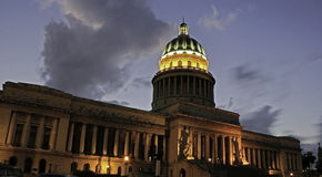 Capitol Building, Cuba. Royalty Free Stock Photo