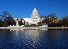 The Capitol building in DC Royalty Free Stock Photography
