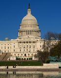 The Capitol building in DC Royalty Free Stock Photos