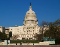 The Capitol building in DC royalty free stock image