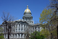 Capitol Building Denver. Capitol building in Denver, Colorado with trees in foreground Royalty Free Stock Photography
