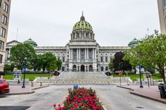 Capitol building in Downtown Harrisburg, pennsylvania Stock Images