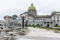 Capitol building in Downtown Harrisburg, pennsylvania Stock Photo