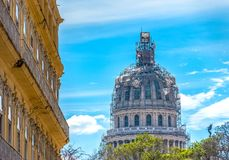 The Capitol building, Havana, Cuba. The Capitol building or El Capitolio being reconstructed, the building is one of Cuba`s most important landmarks and symbols Stock Images