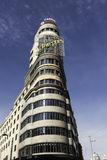 Capitol Building in Gran Via, Madrid Stock Images