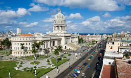 The capitol building in havana. Rooftop view of the national capitol building in havana,cuba Stock Photo