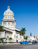 The capitol building in havana 2. Street level view of the national capitol building in havana,cuba Royalty Free Stock Photography