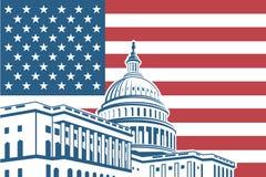 Capitol building icon Stock Photo