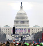 Capitol building on Inauguration of Donald Trump day Royalty Free Stock Photos
