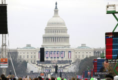 Capitol building on Inauguration of Donald Trump day Stock Image