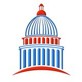 Capitol building logo red and blue Stock Photography
