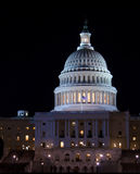 Capitol Building at night, Washington DC, USA Stock Photos
