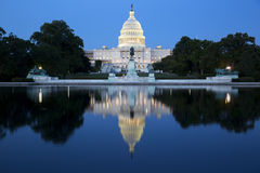 Capitol building at night. Stock Image