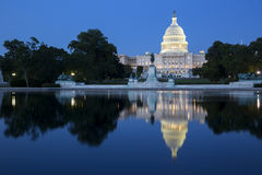 Capitol building at night. Stock Images