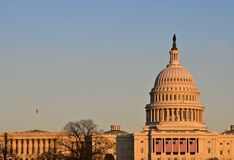 Capitol Building at Sunset Royalty Free Stock Photography