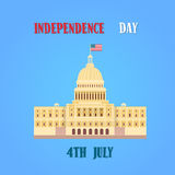 Capitol Building United States Of America Senate House Independence Day Stock Photo