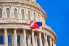 Capitol building Washington DC american flag USA Stock Image