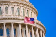 Capitol building Washington DC american flag USA Stock Image