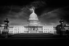 Capitol building Washington DC east facade US. Capitol building Washington DC eastern facade USA US congress Royalty Free Stock Images