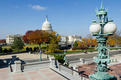 Capitol building in Washington DC in fall Stock Images