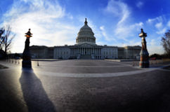 Capitol Building in Washington DC Shadow Royalty Free Stock Photos