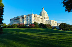 Capitol Building in Washington DC. On summer afternoon Stock Photos