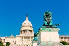 Capitol building Washington DC sunlight congress Royalty Free Stock Images