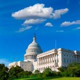 Capitol building Washington DC sunlight day US Stock Photos