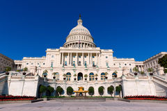 Capitol building Washington DC sunlight day US Stock Image