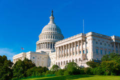 Capitol building Washington DC sunlight day US. A US congress Royalty Free Stock Image