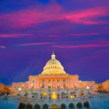 Capitol building Washington DC sunset US congress Royalty Free Stock Photo