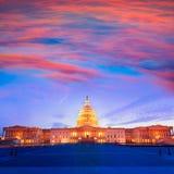 Capitol building Washington DC sunset US congress Stock Photography