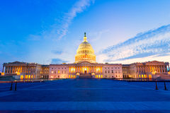 Capitol building Washington DC sunset US congress. Capitol building Washington DC sunset at US congress USA Royalty Free Stock Photography