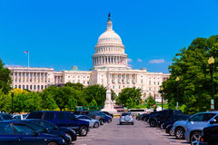 Capitol building Washington DC USA. Pennsylvania Avenue Royalty Free Stock Images