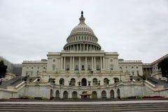 Capitol building Washington United States of America. The facade of the Capitol building in the daytime, Washington, United States of America, 2017 Royalty Free Stock Photos