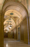 Capitol Ceiling Vaults. Entrance level of Minnesota State Capitol framed by archway and ceiling vaults royalty free stock photography