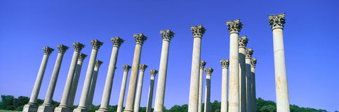The Capitol Columns of the United States National Arboretum once supported the US Capitol Stock Photography