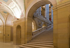 Capitol Corner. Entrance level of Minnesota State Capitol at base of stairs royalty free stock photos
