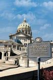 Capitol d'état de la Pennsylvanie à Harrisburg Image libre de droits