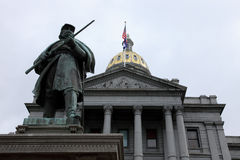 Capitol d'état du Colorado à Denver Photographie stock libre de droits