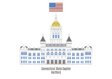 Capitol d'état du Connecticut, Hartford illustration stock