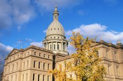 Capitol d'état du Michigan Photographie stock libre de droits
