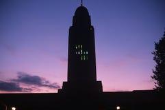 Capitol d'état du Nébraska la nuit Image libre de droits